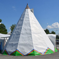 World Famous White Teepee